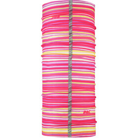 P.A.C. Reflector Multifunktionales Schlauchtuch Kinder stripes pink